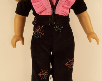 """18 Inch Doll Clothes, Corduroy Jacket, Pants, and Blouse, Made to Fit 18"""" Dolls EM064"""