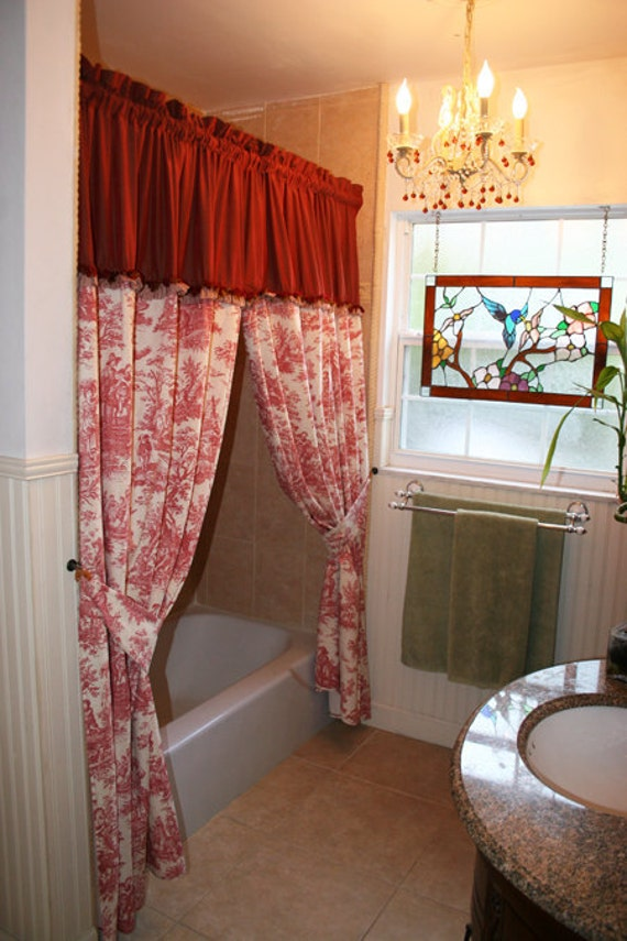 Items Similar To French Country Toile Shower Curtain Or