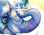 Elephant And Lotus PRINT