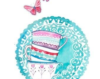 PRINT /  Teacups