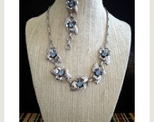 SALE Gorgeous 1950's FLORAL Necklace & Bracelet