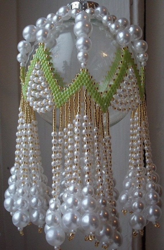 LIME RICKEY Beaded Ornament Cover E-Pattern