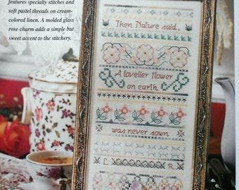 75%OFF Scott Little LOVELIEST FLOWER Band Sampler - Counted Cross Stitch Pattern Chart