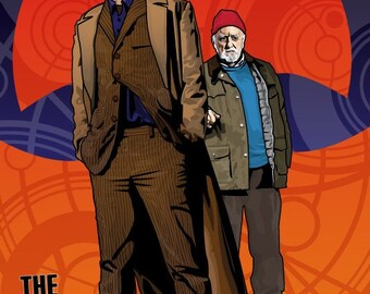 "Doctor Who - Tenth Doctor and Wilf - 18 x 12"" Digital Print"
