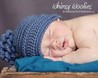 Newborn Crochet Hat Pattern: 'Wiggle Giggle' For Boys & Girls, Crochet Beanie, Photo Prop