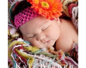DESIGN YOUR OWN Girls Crochet Flower Headband: Newborn-Adult