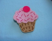 Cupcake Large Hair clip-READY TO SHIP