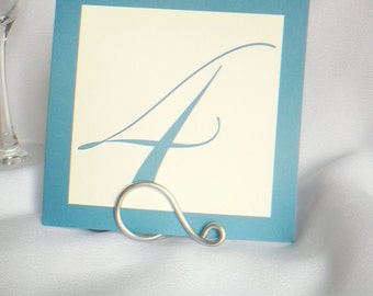 Simple Silver Table Number Holders, Weddings & Events, 5