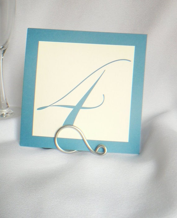 Simple Silver Table Number Holders, 5