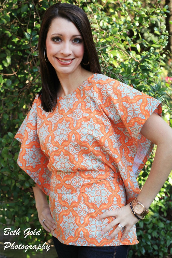 Miss Mod Top pattern, womens shirt, DIY shirt, top, halter top, Women's PDF sewing pattern - by Seamingly Smitten