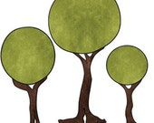 Footed Trees Monster Wall Stickers Decals for Kids Room (stk1068A)