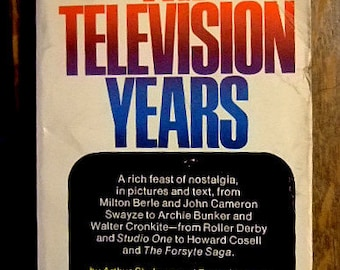 The Television Years, Vintage Paperback on TV History by Arthur Schulman and Roger Youman, Milton Berle, Beatles, Gift for Him, Christmas