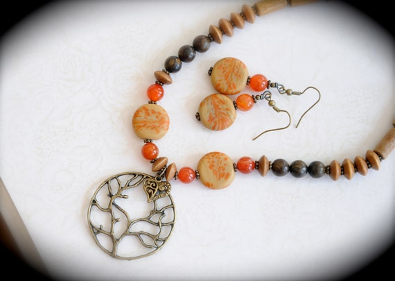 One Voice - Yoga Inspired Necklace and Earring Set - RESERVED