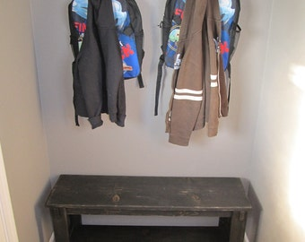 wood bench 3' entryway/hallway/reclaimed/recycled/tv stand/cofhallway bench/entryway benchfee table/