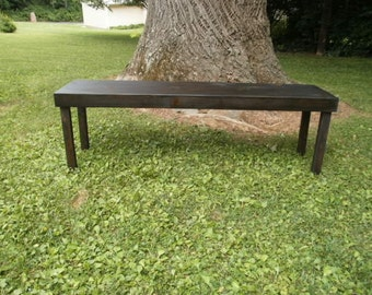 """48"""" wooden bench  /coffee table/entry bench/reclaimed /tv stand/hallway/recycled"""