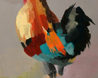 Wild Rooster 1 - Print of Original