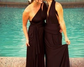 "Custom ""Infinity"" Column A-Line Maxi Bridesmaids Gowns"