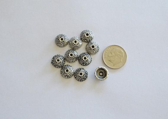 Pewter bead caps