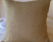 "Burlap Pillow Cover 17"" X 17"" Lined For Even Coverage-Use an 18 inch Pillow Form"