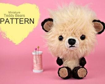 Crochet Pattern - Miniature Crochet Teddy Bears (Pattern No. 043) - INSTANT DIGITAL DOWNLOAD