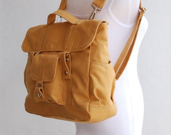 Big SALE, Pico2/ Backpack in Mustard, Satchel, Rucksack, Diaper Backpack, Gift for Her / School Backpack / Gift for her/ 40% OFF