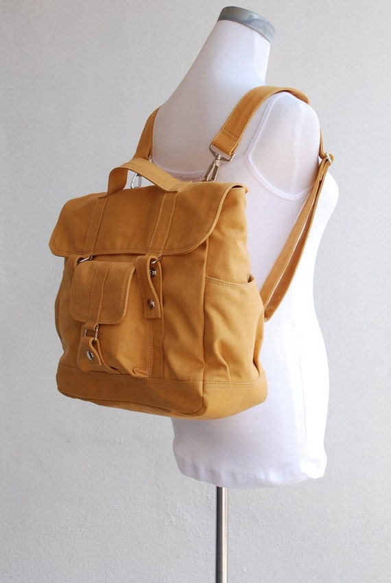 Pico2 Backpack, Sale SALE Sale - in Mustard, Satchel, Rucksack, Diaper Backpack, Canvas Backpack, Gift for Her / School Backpack 40% Off