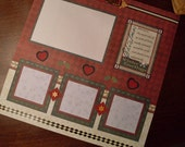 Premade Christmas 12 x 12 Scrapbook Page Layout - Christmas Special