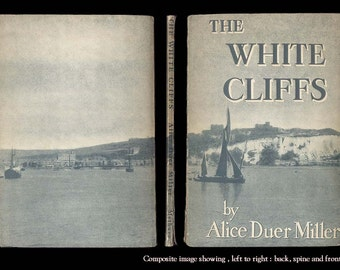 The White Cliffs of Dover - Alice Duer Miller, WWII 1940s Australian Edition Vintage Book Great Patriotic Poem from Second World War
