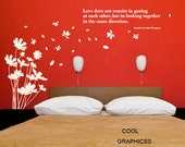 Dandelions blowing in the breeze -Vinyl Wall Decal Sticker Art
