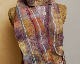 Nuno Felted Pastel Scarf