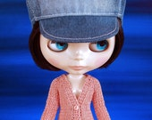 Hand knit doll cardigan for: Blythe, Dal, Monster High...