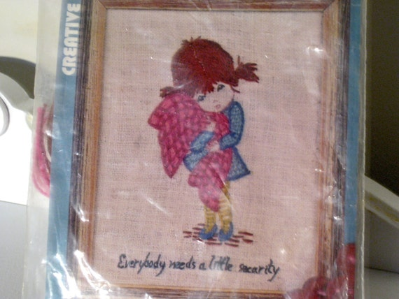 Vintage Moppet - Needle Point Kit - Fran Mar Moppets - Vogart - Retro Embroidery Kit
