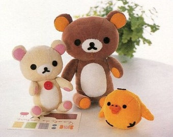 Rilakkuma Bear and Friends Plush Sewing Pattern PDF