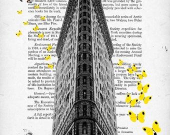 YELLOW BUTTERFLIES, original ARTWORK, art print, poster, giclee print, new york
