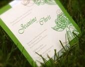 Shower Invitation, Bridal, Baby, Engagement, Elegant, Vintage Flower Illustration, PRINTABLE