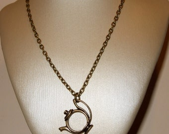 Teapot Necklace, Simple Charm Pendant, Bronze Teapot Charm, Alice In Wonderland Tea Party Necklace, Simple Tea Necklace, Everyday Jewelry