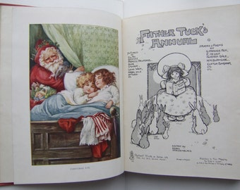 Father Tuck's Annual / Vintage Collectible Children's Christmas Gift Book / ca. 1910