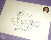 Calligraphy Envelope Addressing - Elegant formal hand lettering - Sage Spencerian