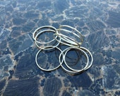 Set of 3 Thin Silver Rings, Sterling Silver Stacking Ring Set, Silver Midi Ring Set