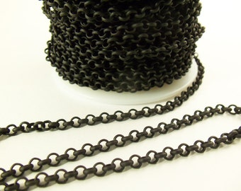 Matte Black 3mm Rolo Chain Ch21