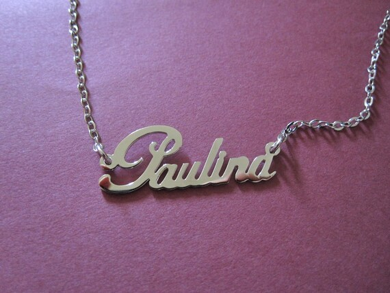 Personalized White Gold Name Necklace