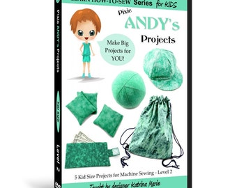 Learn How to Sew for Kids with Pixie Andy's Projects DVD (Intermediate Sewing Machine Projects for ages 5 & up)