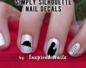 Sherlock Holmes Nail Decals Black and Clear Simply Silhouette by Inspired Nails