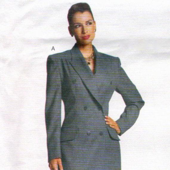 Alexander McQueen for Givenchy double-breasted pantsuit or coat dress pattern -- MEDIUM size range -- Vogue Paris Original 2183