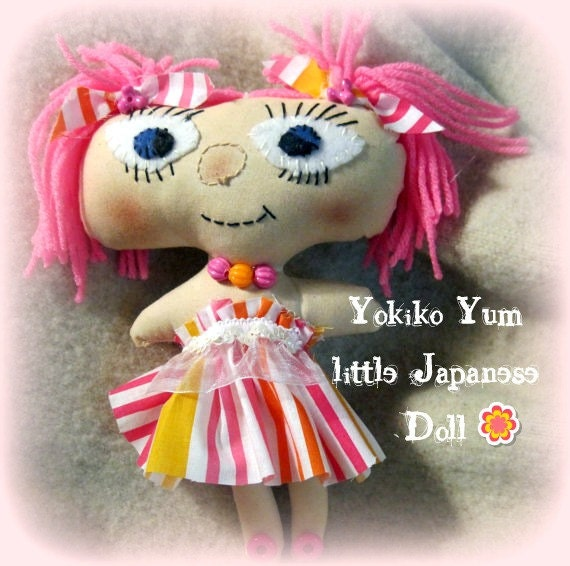 RESERVED for JAMI Japanese  cloth Doll