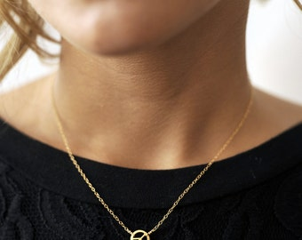 Peace necklace. 14kt gold filled