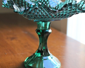 Candy Dish Bowl in Teal Green / Pedestal for Wedding Candy Buffet Dessert Bar / Jewelry Holder Soap Dish / Wedding Gift or Birthday Gift