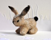 Wool Beige Bunny Plush
