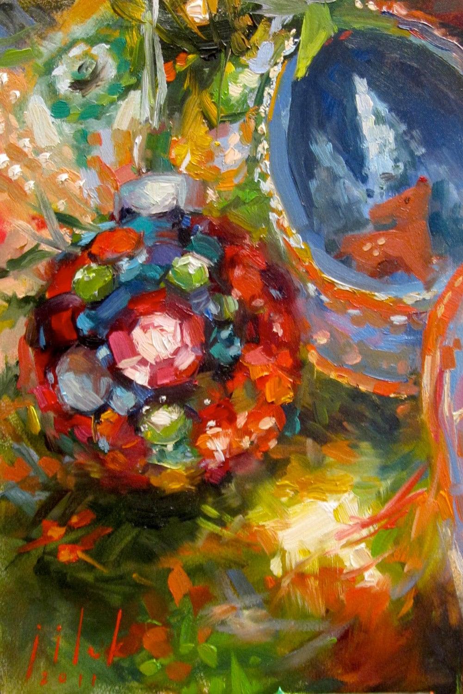 o christmas tree oil painting by juliejilek on etsy