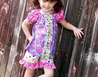 HALF OFF SALE Layne's ruffle shorts pdf Pattern size 6/12 months to size 8 girls